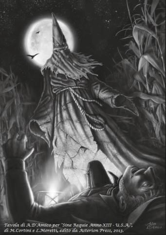 Illustrazione di A.D. Amico per Sine Requie U.S.A.
