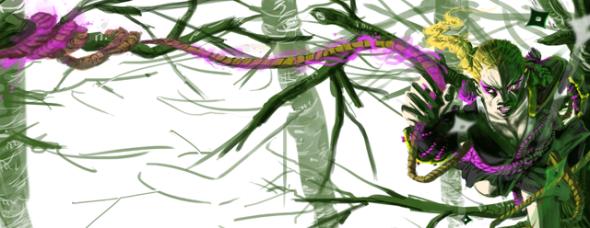 Banner immerso nella vegetazione